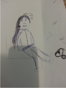 One of the social workers drawings (one of the activities we gave them)