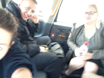 On the way there- Taxi selfie!