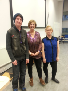 Us with Sue, University of Chichester Lecturer