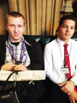 In parliament, just after visiting the House of Commons and waiting to see our MP!