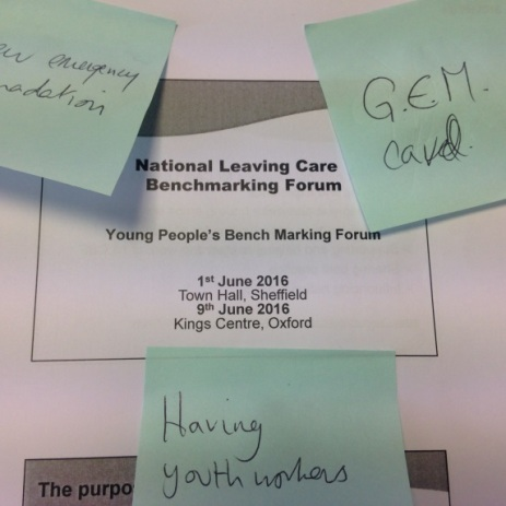 Care Leavers Young People's National Benchmarking Forum