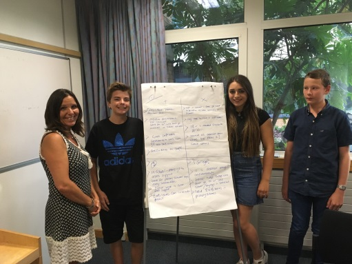Young people with feedback
